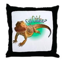 Bearded Dragon Got Crickets 5 Throw Pillow