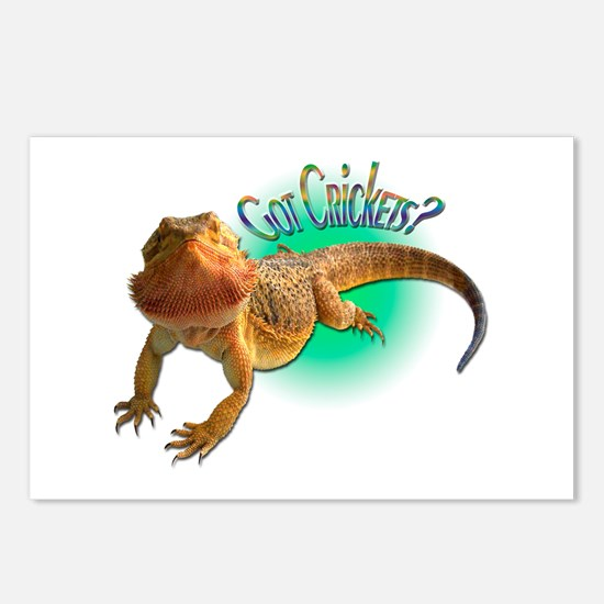 Bearded Dragon Got Crickets 5 Postcards (Package o