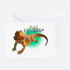 Bearded Dragon Got Crickets 5 Greeting Cards (Pk o