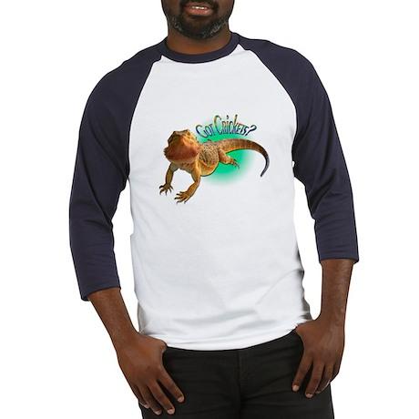 Bearded Dragon Got Crickets 5 Baseball Jersey