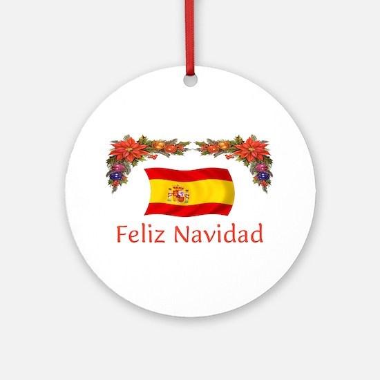 Spain Feliz...2 Ornament (Round)