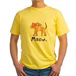 Vintage Distressed Cartoon Ki Yellow T-Shirt