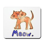 Vintage Distressed Cartoon Ki Mousepad