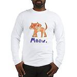 Vintage Distressed Cartoon Ki Long Sleeve T-Shirt