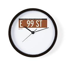 99th Street in NY Wall Clock