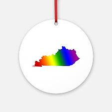 Kentucky Gay Pride Ornament (Round)