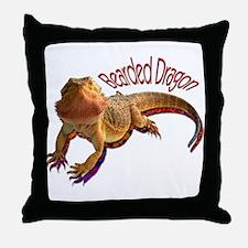 Bearded Dragon III Throw Pillow