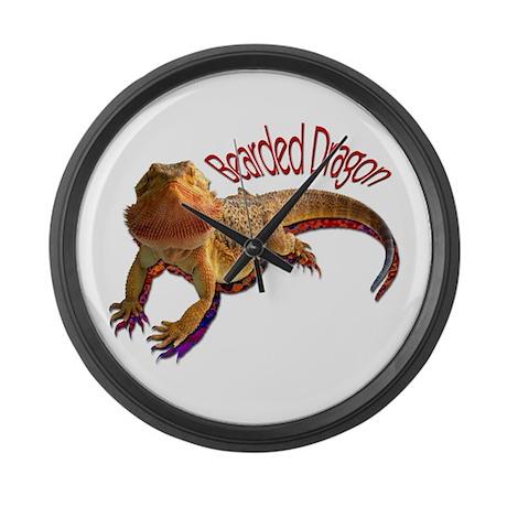 Bearded Dragon III Large Wall Clock