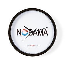 """""""Nobama '08"""" Wall Clock"""
