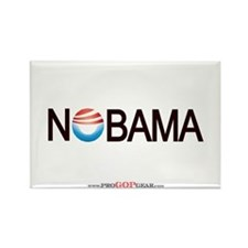 """Nobama '08"" Rectangle Magnet"