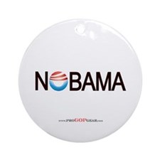 """Nobama '08"" Ornament (Round)"