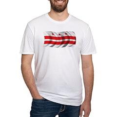 Wavy Washington DC Flag Fitted T-Shirt