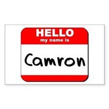 Hello my name is Camron Rectangle Decal
