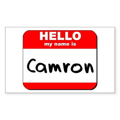 Hello my name is Camron Rectangle Sticker