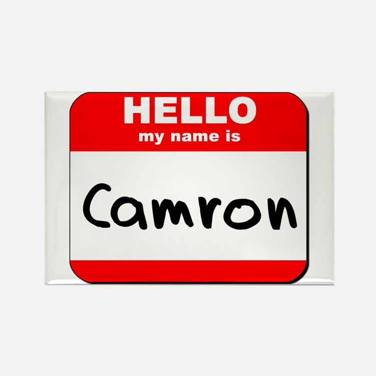 Hello my name is Camron Rectangle Magnet