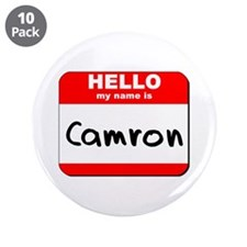 "Hello my name is Camron 3.5"" Button (10 pack)"