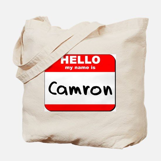 Hello my name is Camron Tote Bag