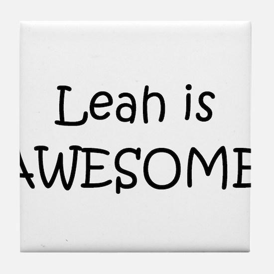 Funny Leah Tile Coaster