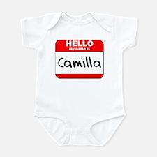 Hello my name is Camilla Infant Bodysuit