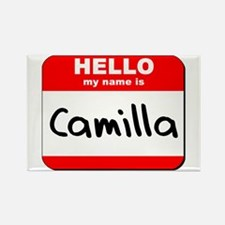 Hello my name is Camilla Rectangle Magnet