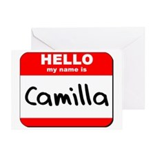 Hello my name is Camilla Greeting Card