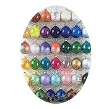 Frelling Glass Orbs Oval Ornament