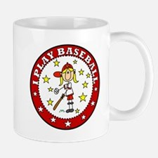 Girl I Play Baseball Mug