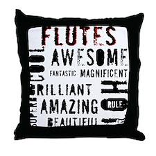Unique Girl band Throw Pillow