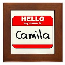 Hello my name is Camila Framed Tile