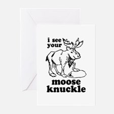 Moose Knuckle Greeting Cards (Pk of 10)