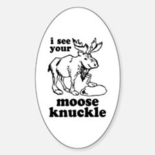 Moose Knuckle Oval Decal