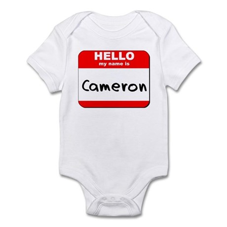 Hello my name is Cameron Infant Bodysuit