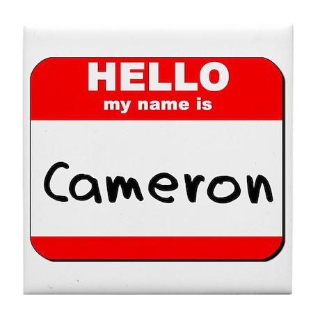 Hello my name is Cameron Tile Coaster