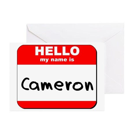 Hello my name is Cameron Greeting Cards (Pk of 10)