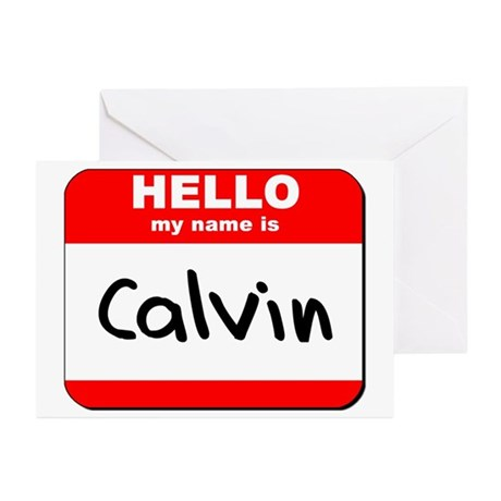 Hello my name is Calvin Greeting Cards (Pk of 10)
