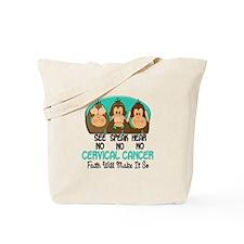 See Speak Hear No Cervical Cancer 1 Tote Bag