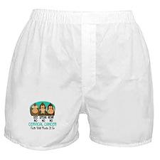 See Speak Hear No Cervical Cancer 1 Boxer Shorts