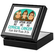 See Speak Hear No Cervical Cancer 1 Keepsake Box