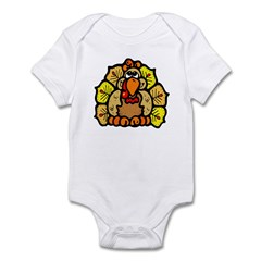 Thanksgiving Turkey Feathers Infant Bodysuit