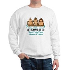 See Speak Hear No Cervical Cancer 2 Sweatshirt