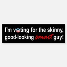 Skinny smart guy Bumper Bumper Bumper Sticker