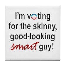 Skinny smart guy Tile Coaster