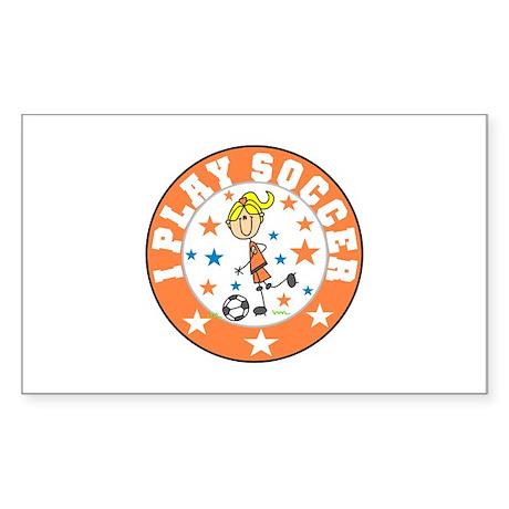 Girl I Play Soccer Rectangle Sticker