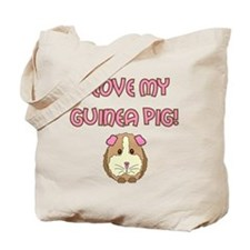 I love my guinea pig Tote Bag