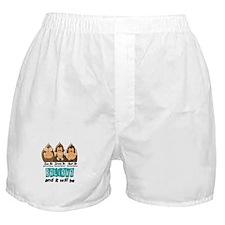 See Speak Hear No Cervical Cancer 3 Boxer Shorts