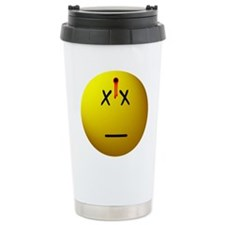 Dead Happy Face Travel Mug