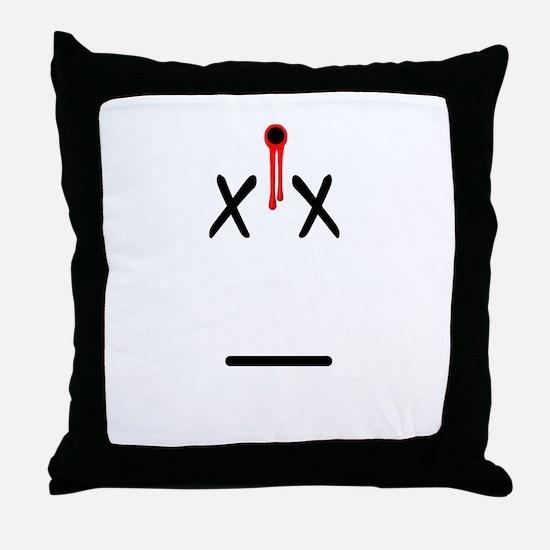 Dead Face Throw Pillow
