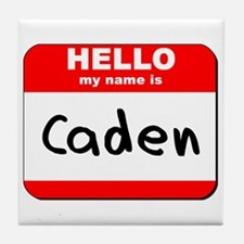 Hello my name is Caden Tile Coaster