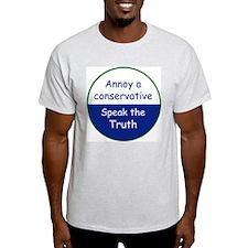speak truth Ash Grey T-Shirt
