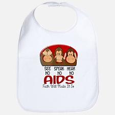 See Speak Hear No AIDS 1 Bib